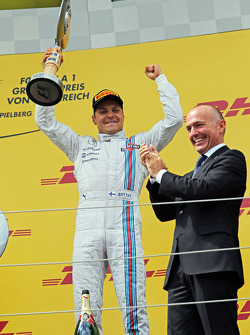 Valtteri Bottas, Williams celebra seu terceiro no pódio