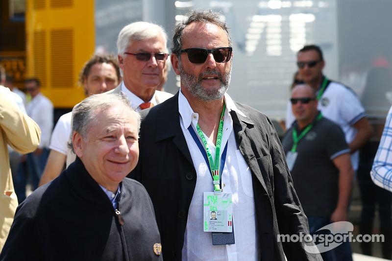 Jean Reno, attore con Jean Todt, presidente della FIA