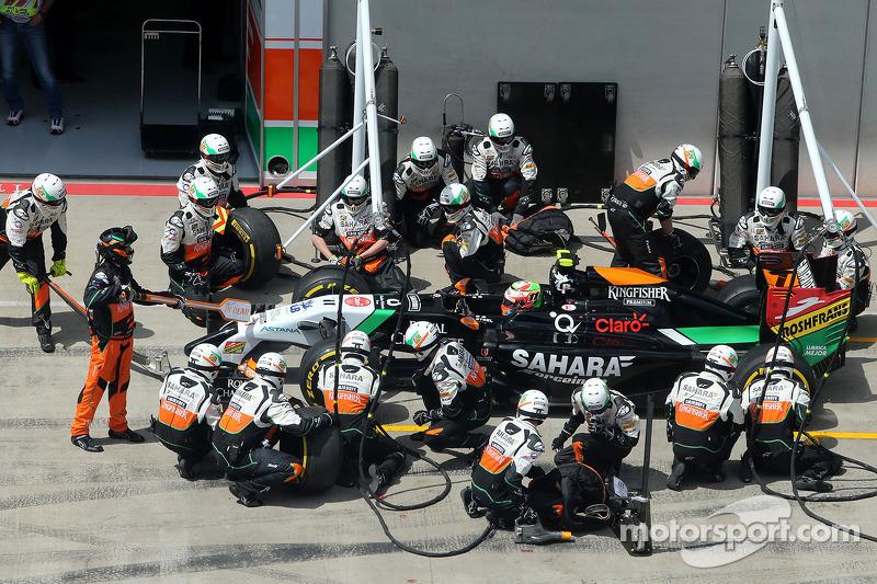 Boxenstopp: Sergio Perez, Sahara Force India