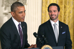 Jimmie Johnson visits President Barack Obama at the White House