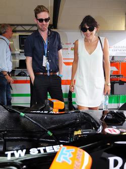 Ricky Wilson, Leadsinger Kaiser Chiefs; Sahara Force India F1 Team