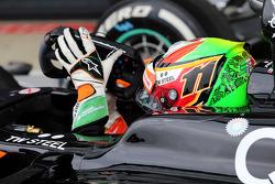 Sergio Perez, Sahara Force India F1 VJM07 in parc ferme