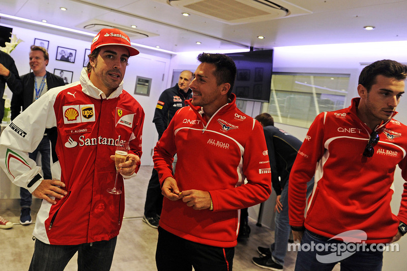Fernando Alonso, Ferrari at the 200th GP celebration for Felipe Massa, Williams