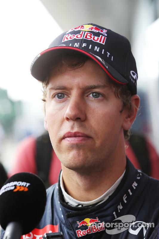 Sebastian Vettel, Red Bull Racing com the media