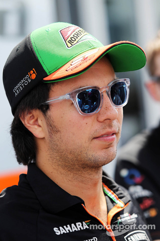 Sergio Perez, Sahara Force India F1 com a mídia