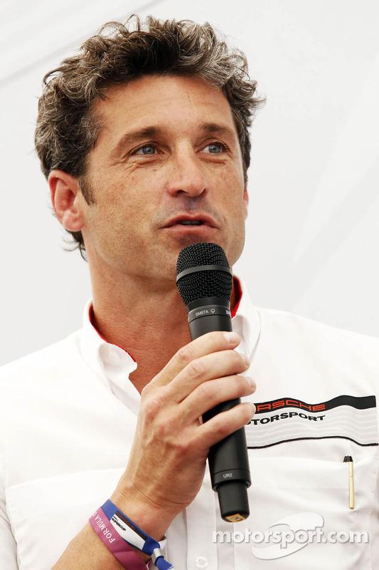 Patrick Dempsey, Actor, participando na corrida da Porsche Supercup