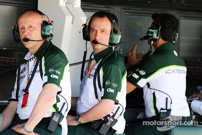 (L to R): Miodrag Kotur, Caterham F1 Team, Team Manager with Gianluca Pisanello, Caterham F1 Team Head of Trackside Engineering