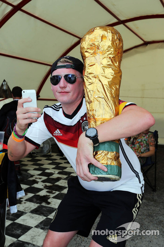 A fan with the FIFA World Cup
