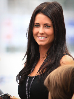 Kirsten Dee, novia de James Hinchcliffe, Andretti Autosport Honda