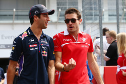 (L to R): Daniel Ricciardo, Red Bull Racing and Jules Bianchi, Marussia F1 Team on the drivers parad