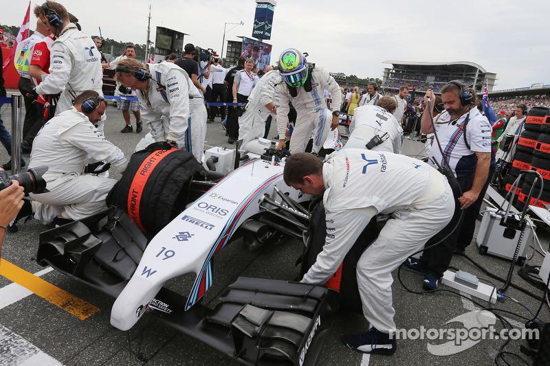 Felipe Massa, Williams FW36 gridde