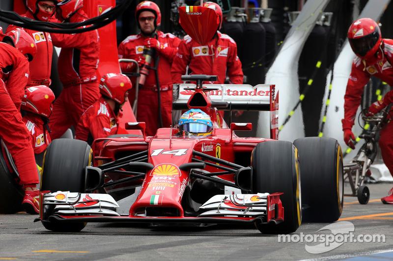 Fernando Alonso, Scuderia Ferrari pitstop esnasında