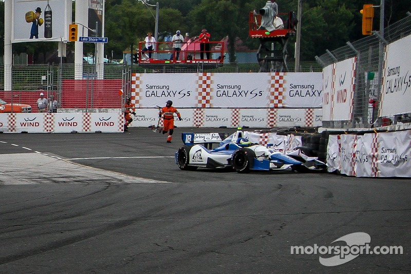 Carlos Huertas, Dale Coyne Racing Honda kazası