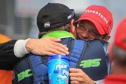 Sébastien Bourdais, KVSH Racing Chevrolet celebrates