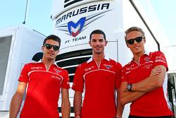 Jules Bianchi, Marussia F1 Takımı ve Alexander Rossi, Marussia F1 Takımı Yedek Pilotu ve Max Chilton, Marussia F1 Takımı