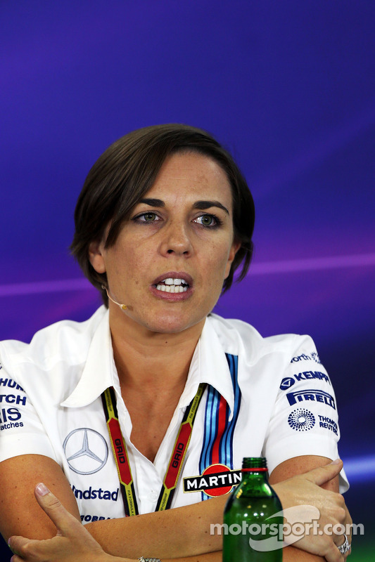 Claire Williams, diretora da Williams, na coletiva de imprensa