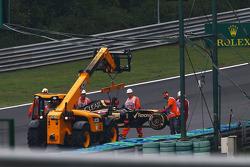 Romain Grosjean, Lotus F1 E22 abandona a prova