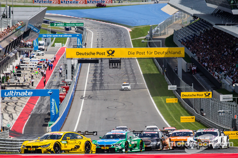 Partenza :Timo Glock, BMW Team MTEK BMW M4 DTM e Augusto Farfus, BMW Team RBM BMW M4 DTM