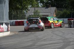 Azione di gara nel Rallycross