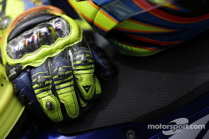 Gloves Of Valentino Rossi At Indianapolis Gp
