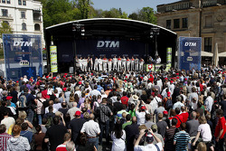 DTM drivers on stage