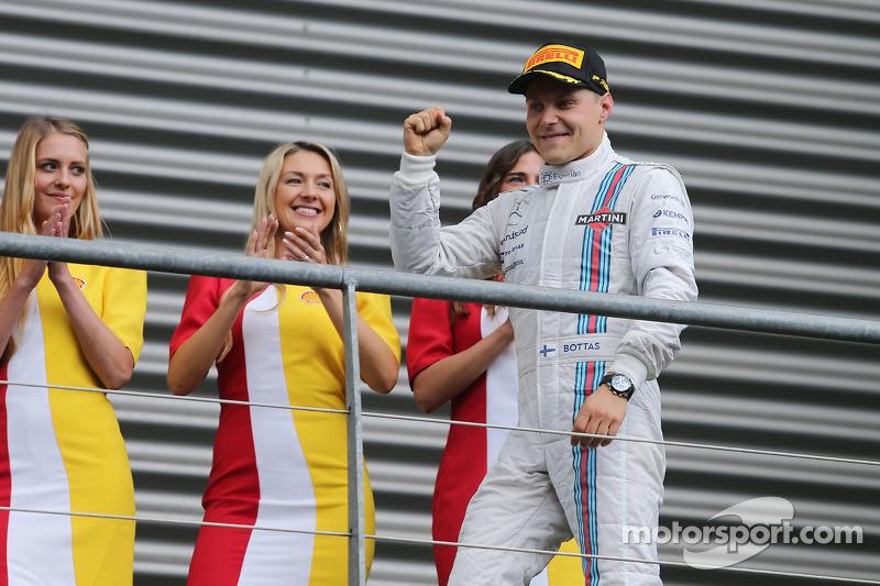 Valtteri Bottas, Williams festeggia la terza posizione sul podio