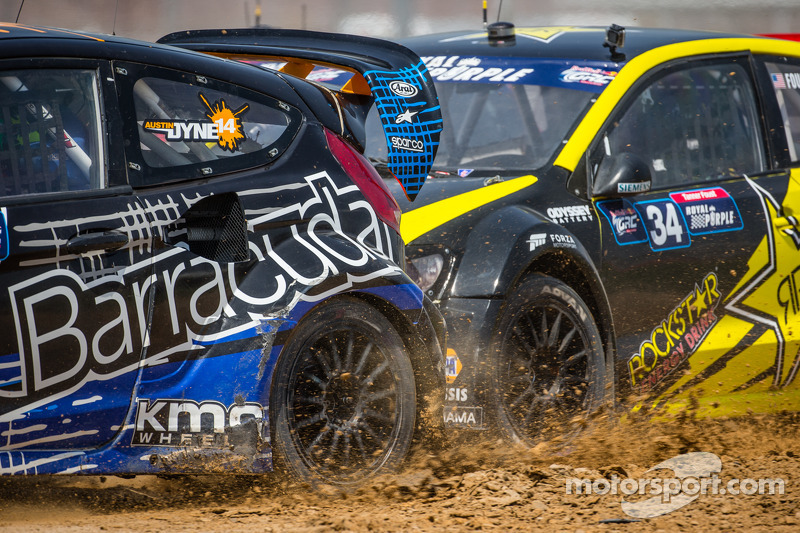 #14 Barracuda Racing Ford Fiesta ST: Austin Dyne e #34 Volkswagen Andretti Rallycross Volkswagen Polo: Tanner Foust