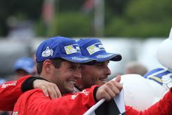 GTLM Winners #62 Risi Competizione Ferrari F458: Giancarlo Fisichella, Pierre Kaffer