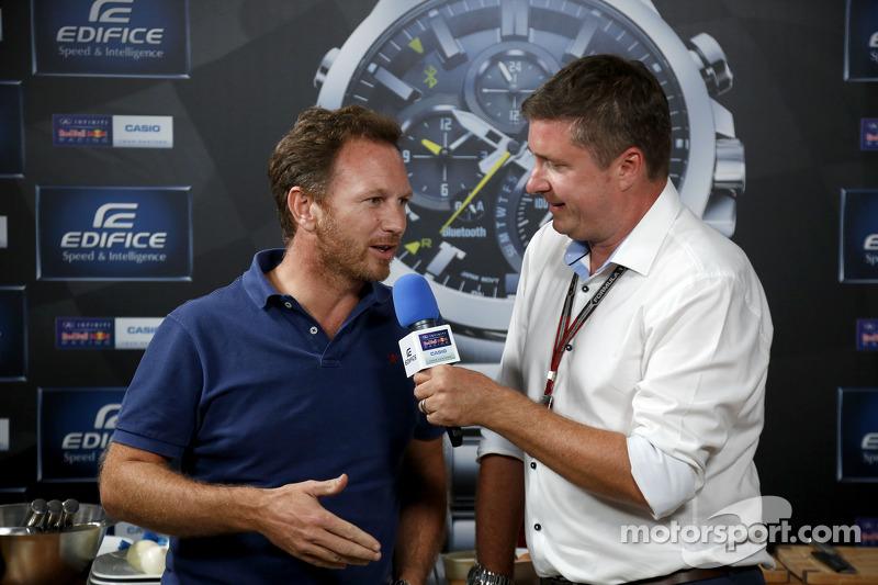 Casio Edifice Lansmanı, Red Bull Enerji İstasyonu'nda, Christian Horner, Red Bull Racing Takım Patro