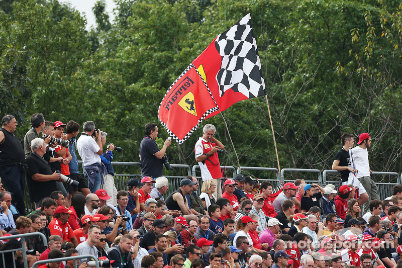 Ferrari flag and fans