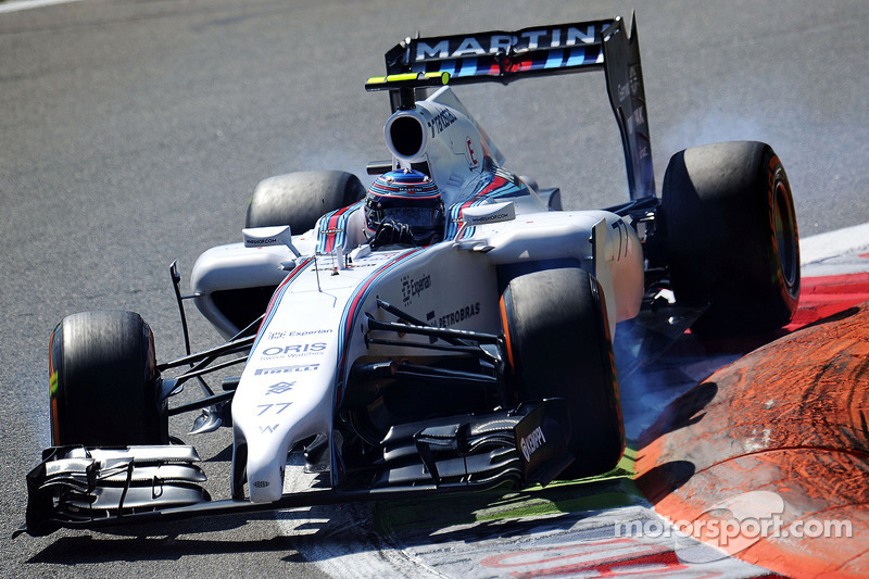Valtteri Bottas, Williams FW36 blocca le ruote in frenata