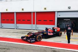 Max Verstappen testa Toro Rosso