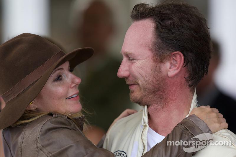 Christian Horner & Geri Haliwell 'loving embrace'