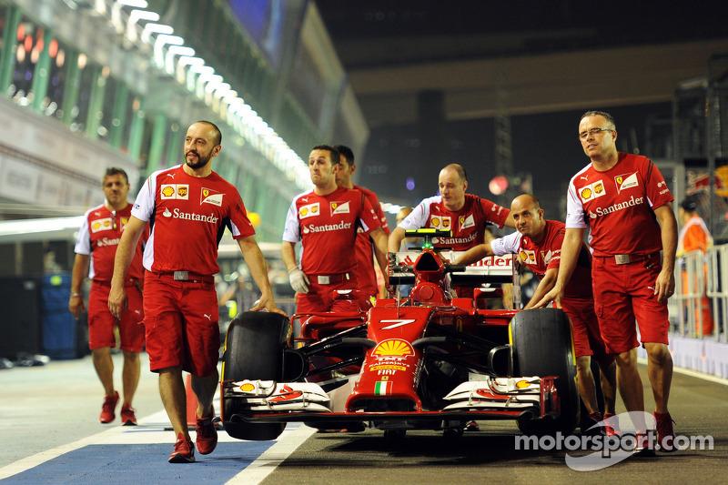 Ferrari F14-T of Fernando Alonso, Ferrari taken to scrutineering