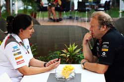 Monisha Kaltenborn, Sauber Team Principal con Robert Fernley, Sahara Force India F1 Team Vice Team Principal