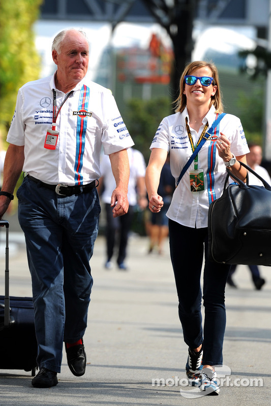 Edward Charlton avec Susie Wolff, Williams