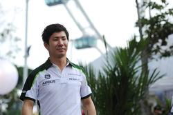 Камуи Кобаяши. ГП Сингапура, Первая пятничная тренировка.