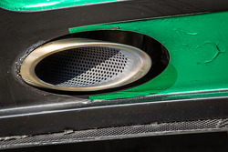 #19 Black Falcon Mercedes SLS AMG GT3 exhaust detail