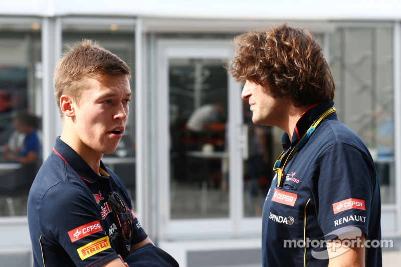 (L to R): Daniil Kvyat, Scuderia Toro Rosso with Marco Matassa, Scuderia Toro Rosso Race Engineer