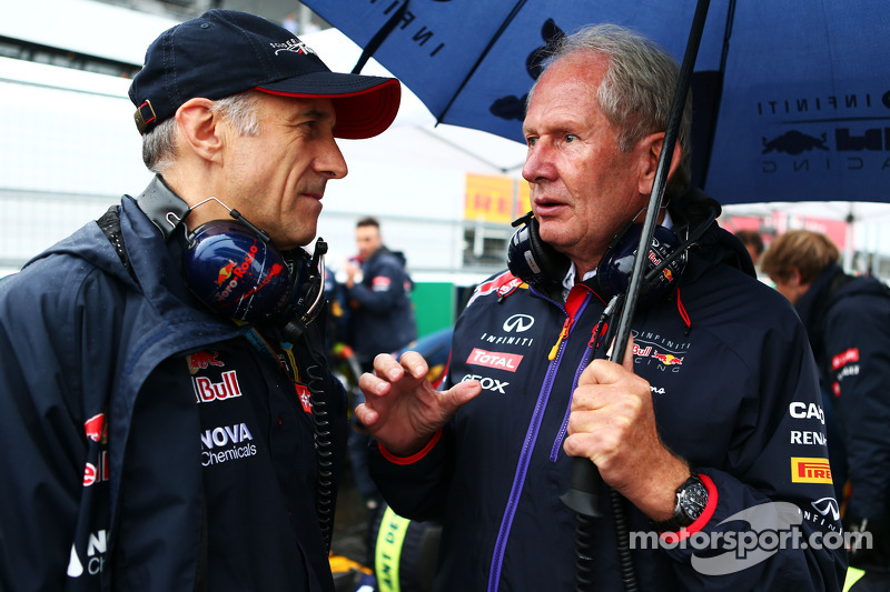 (L to R): Franz Tost, Scuderia Toro Rosso Team Principal with Dr Helmut Marko, Red Bull Motorsport C