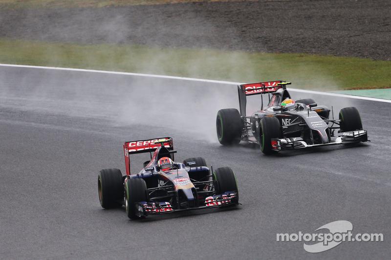 Daniil Kvyat, Scuderia Toro Rosso STR9 Esteban Gutierrez, Sauber C33