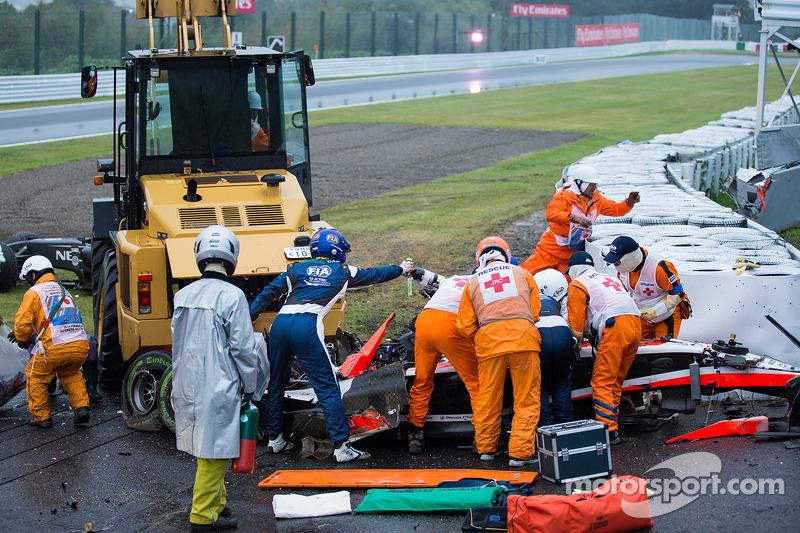 La maldita grúa del accidente de Jules Bianchi