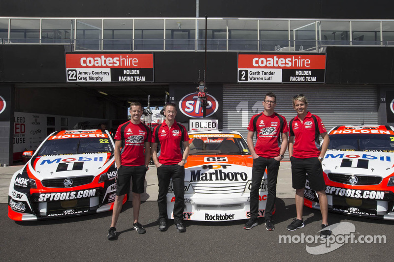 Garth Tander ve Warren Luff, James Courtney ve Greg Murphy