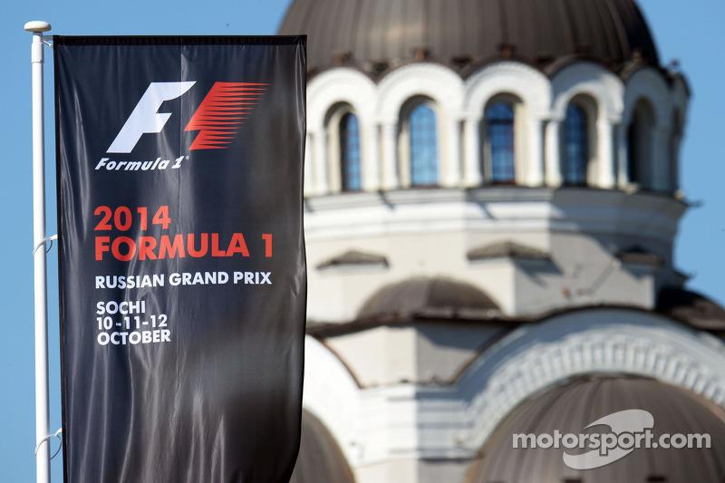 Autodromo di Sochi, bandiere del Gran Premio di Russia