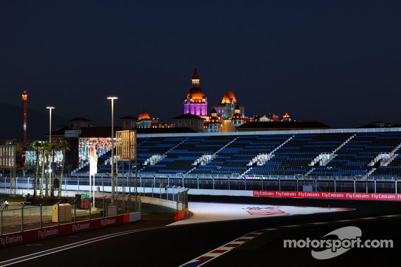 Autodrom Sochi di notte