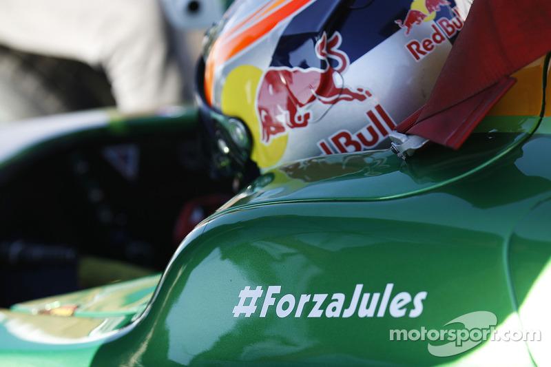 #ForzaJules sur la voiture de Pierre Gasly
