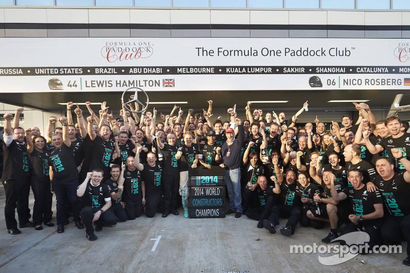 Mercedes AMG celebra el Campeonato de constructores de 2014