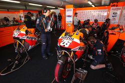 Area dedicata al Repsol Honda Team