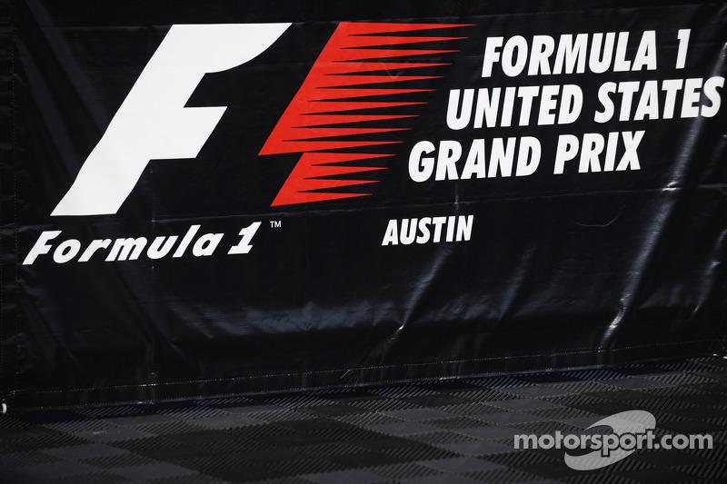 F1 United States Grand Prix signage