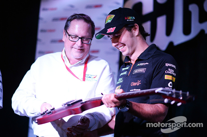 Sergio Perez, Sahara Force India F1 al Fans' Forum